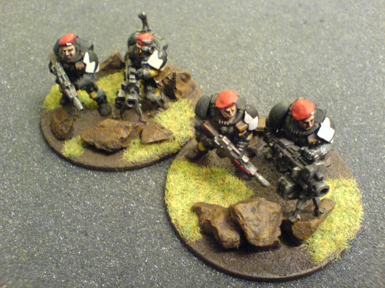 Beret, Carapace Armour, Drop Troops, Guard, Heavy Bolter, Imperial Guard, Warhammer 40,000, West Wind