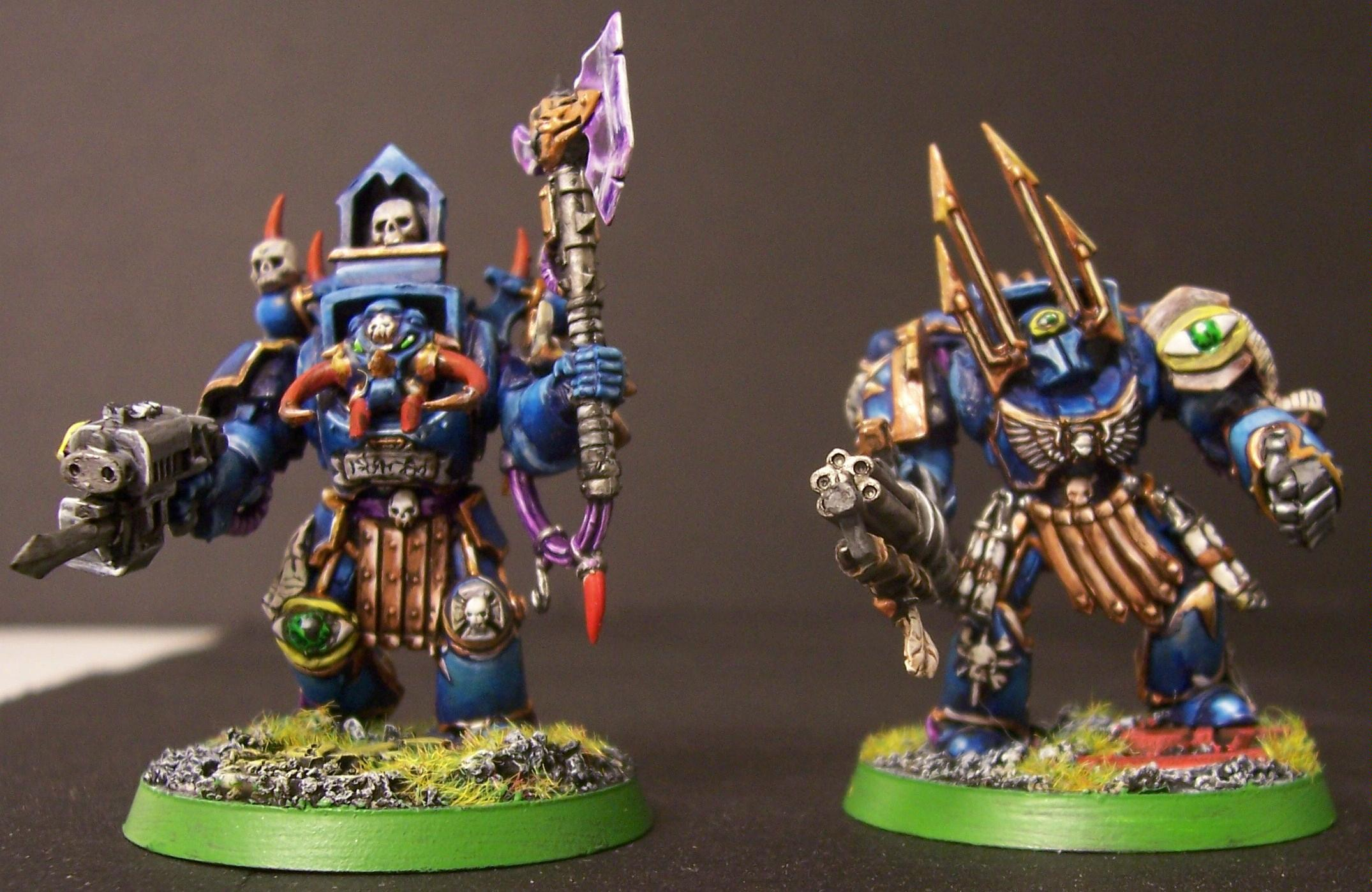 Chaos Space Marines, Terminator Armor, Thousand Sons, Tzeentch