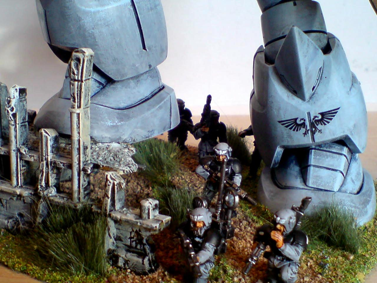 Conversion, Gundam, Imperial Guard, Infantry, Miniatures, Terrain, Titan