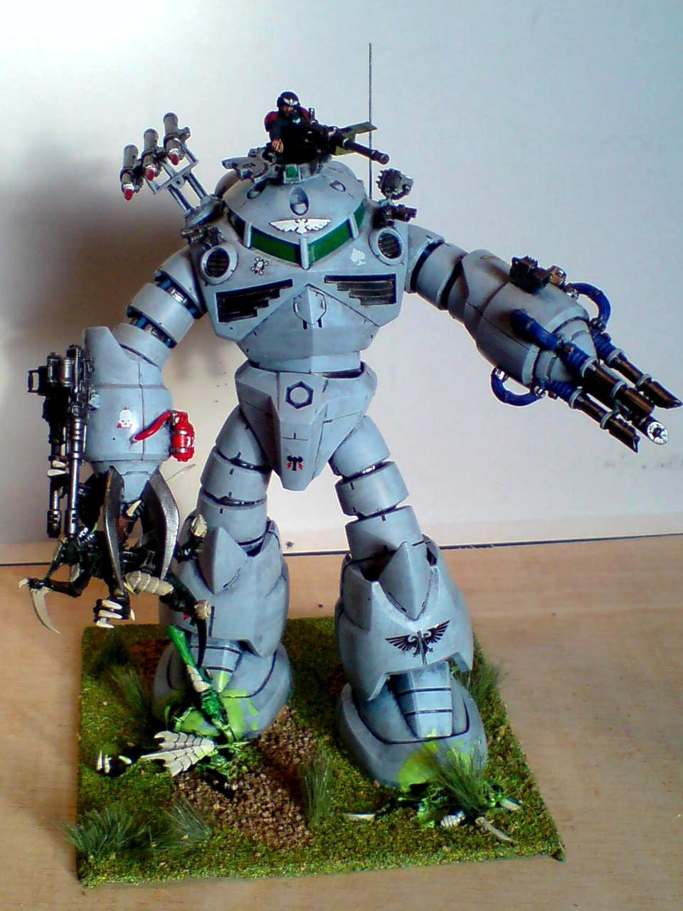 Anime, Conversion, Gundam, Imperial Guard, Mecha, Painted, Scouts, Titan, Warhammer 40,000
