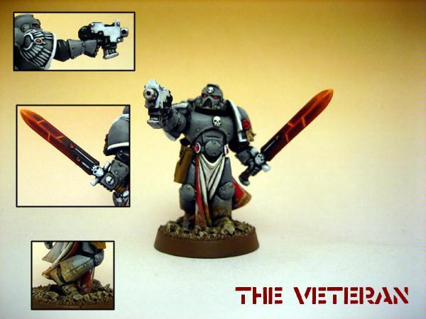 Power Sword, Space Marines, Veteran, Warhammer 40,000