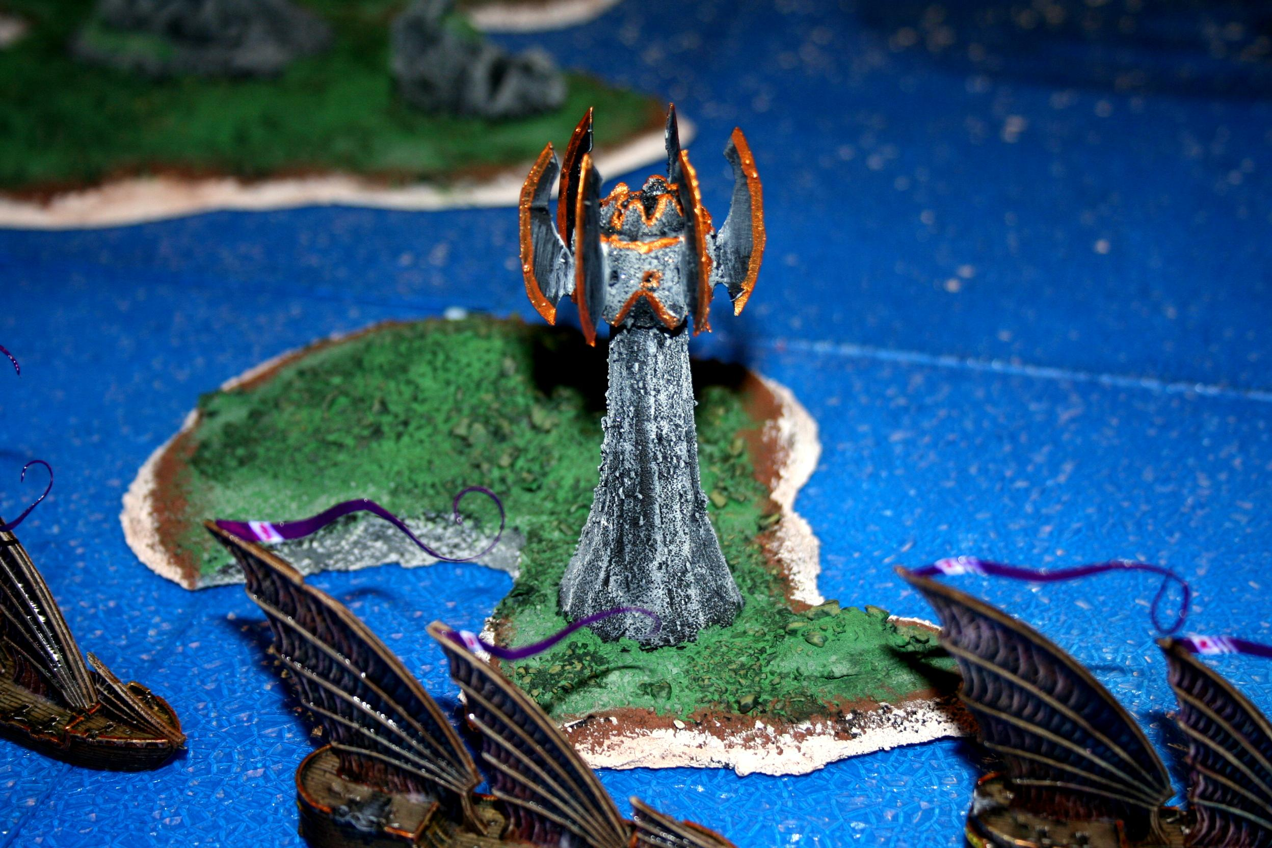 Craig, Cruiser, D6 Generation, Dragon Lords, Island, Terrain, Tower Of Sorcery, Uncharted Seas
