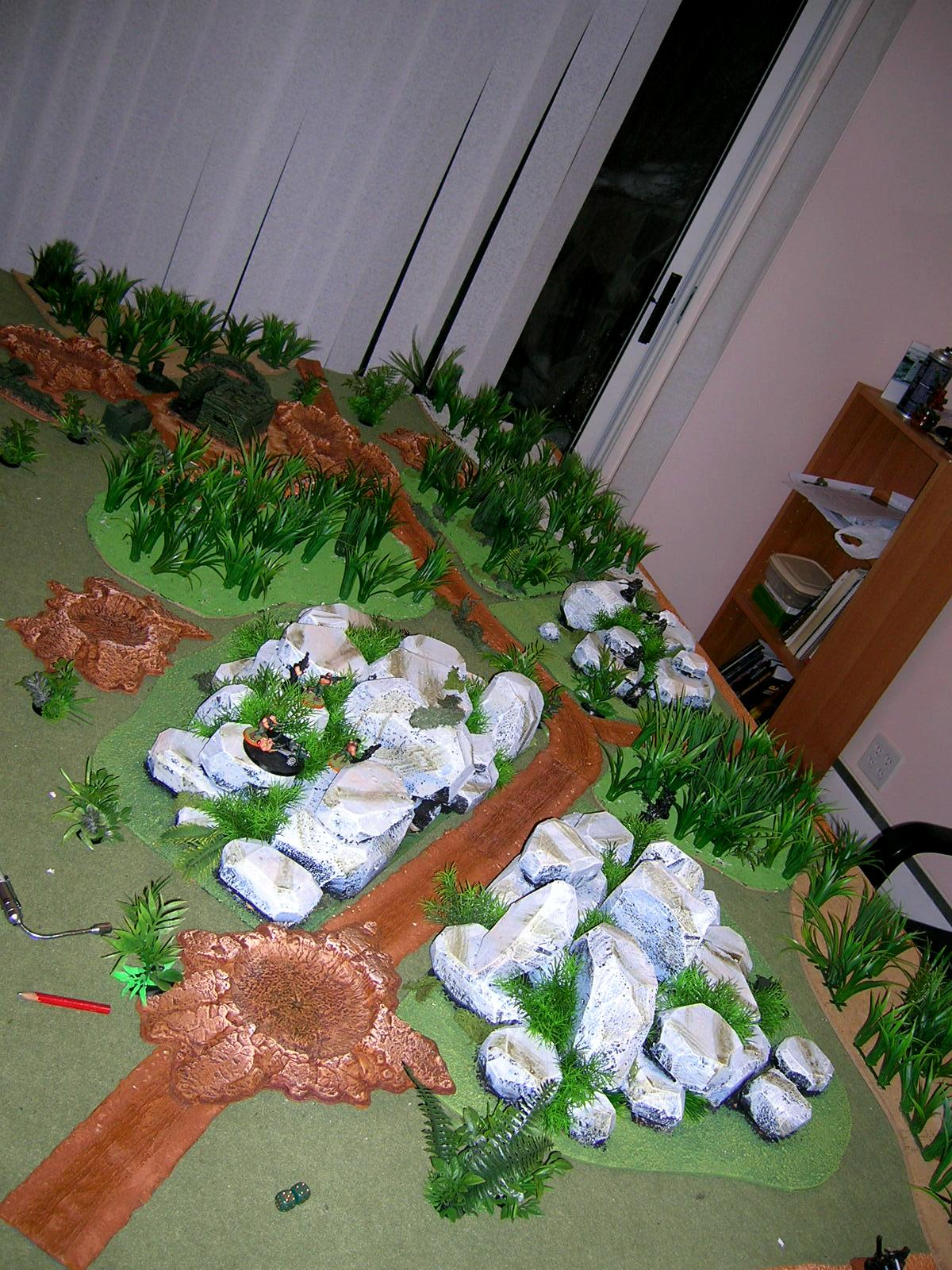Catachan, Game Table, Jungle, Jungle Terrain
