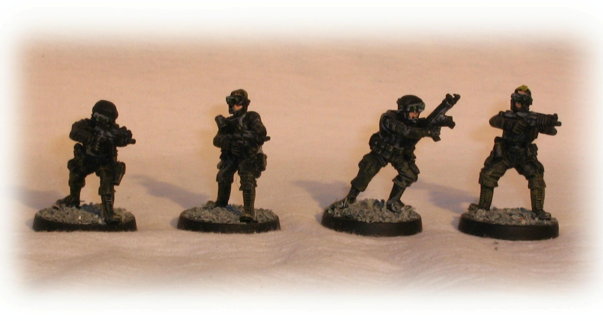 A command squad which will have a small mecha as the officer when finished