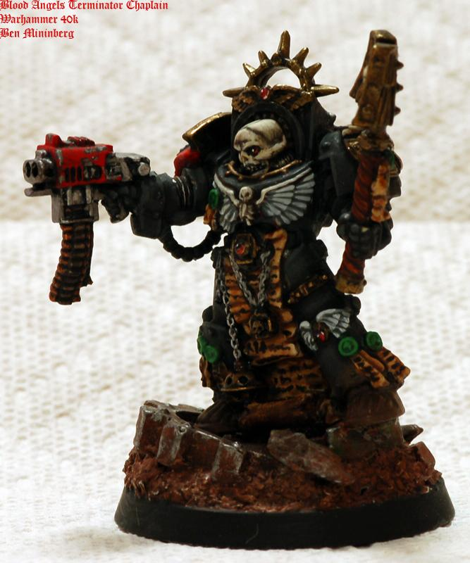 Angel, Base, Black, Blood, Chaplain, Scenic, Space Marines, Terminator Armor, Warhammer 40,000