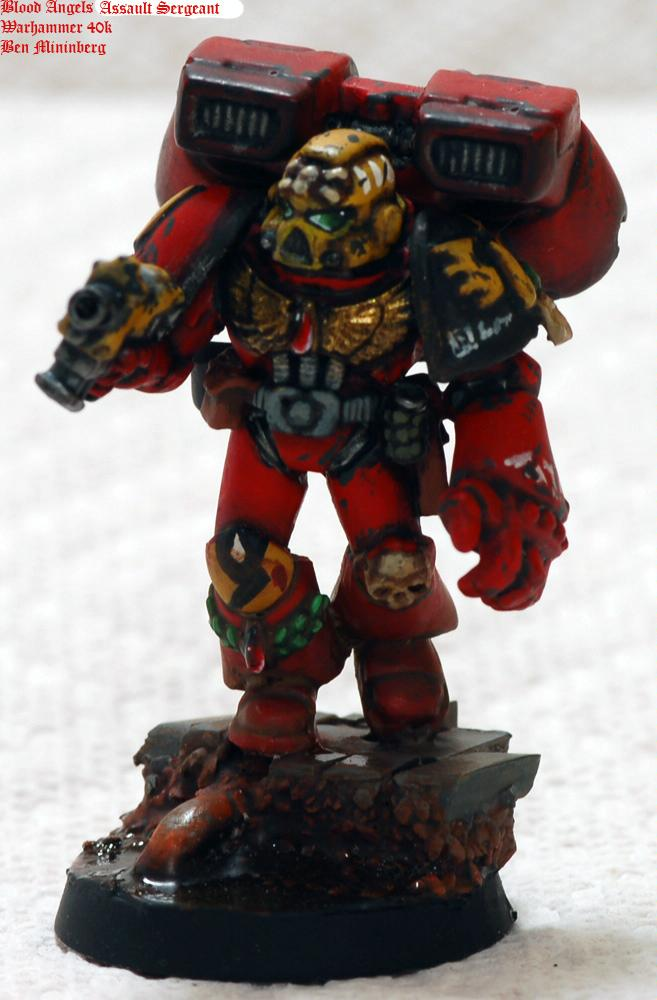 Assault, Blood Angels, Power Fist, Red, Scenic, Space Marines