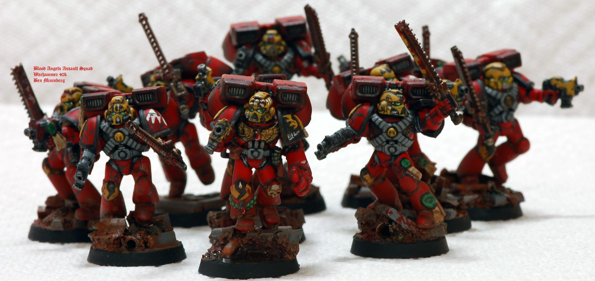 Action, Angel, Assault, Base, Blood, Chainsword, Red, Scenic, Space Marines, Weathered