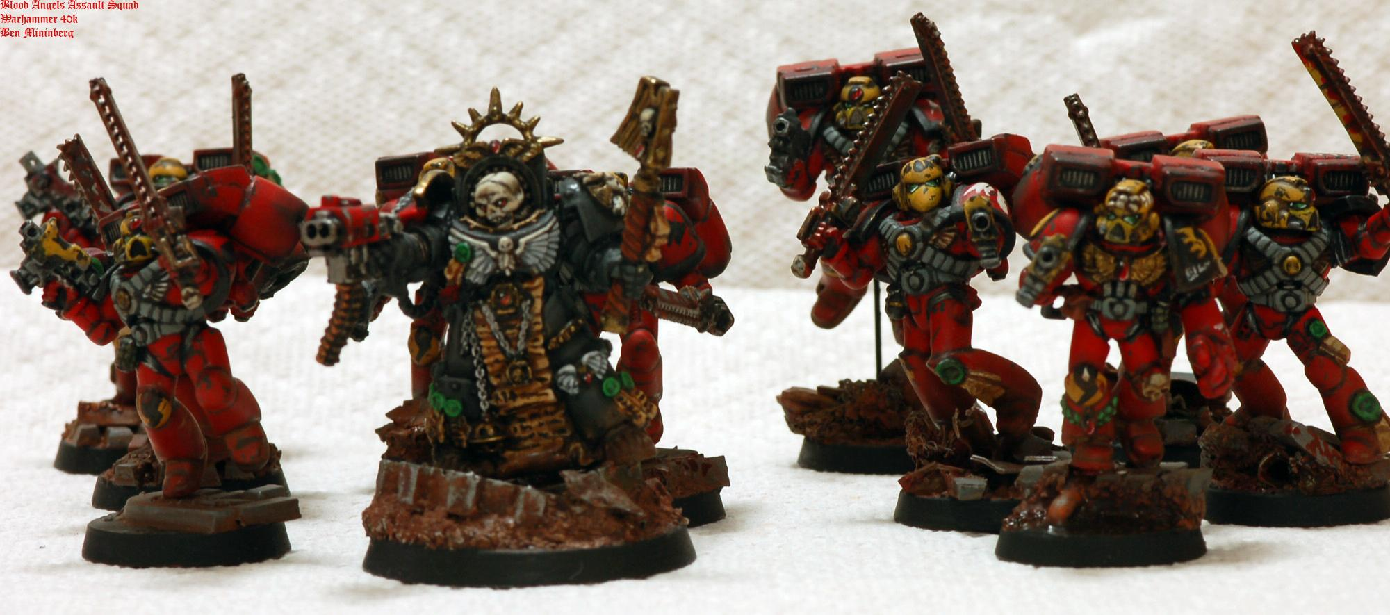Angel, Assault, Base, Blood, Chainsword, Red, Scenic, Space Marines, Weathered