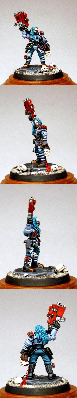 Bounty Hunter, Female, Imperial Guard, Inquistion, Necromunda