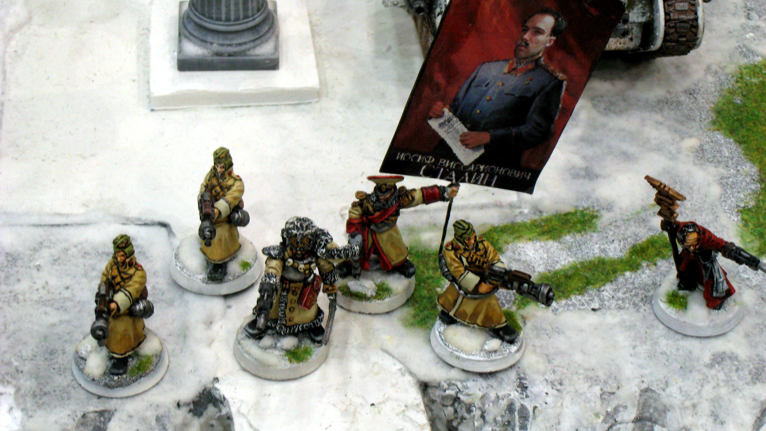 Imperial Guard, Russians, Snow, Valhallans