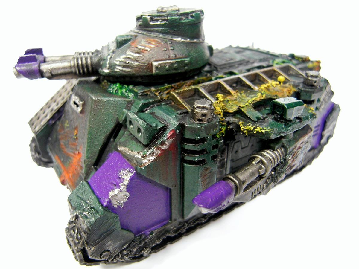 Chaos Space Marines, Nurgle, Predator, Rough Coat, Warhammer 40,000