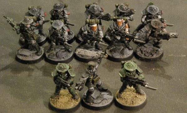 Imperial, Imperial Guard, Mutant Chronicles, Storm Troopers, Trencher, Warzone