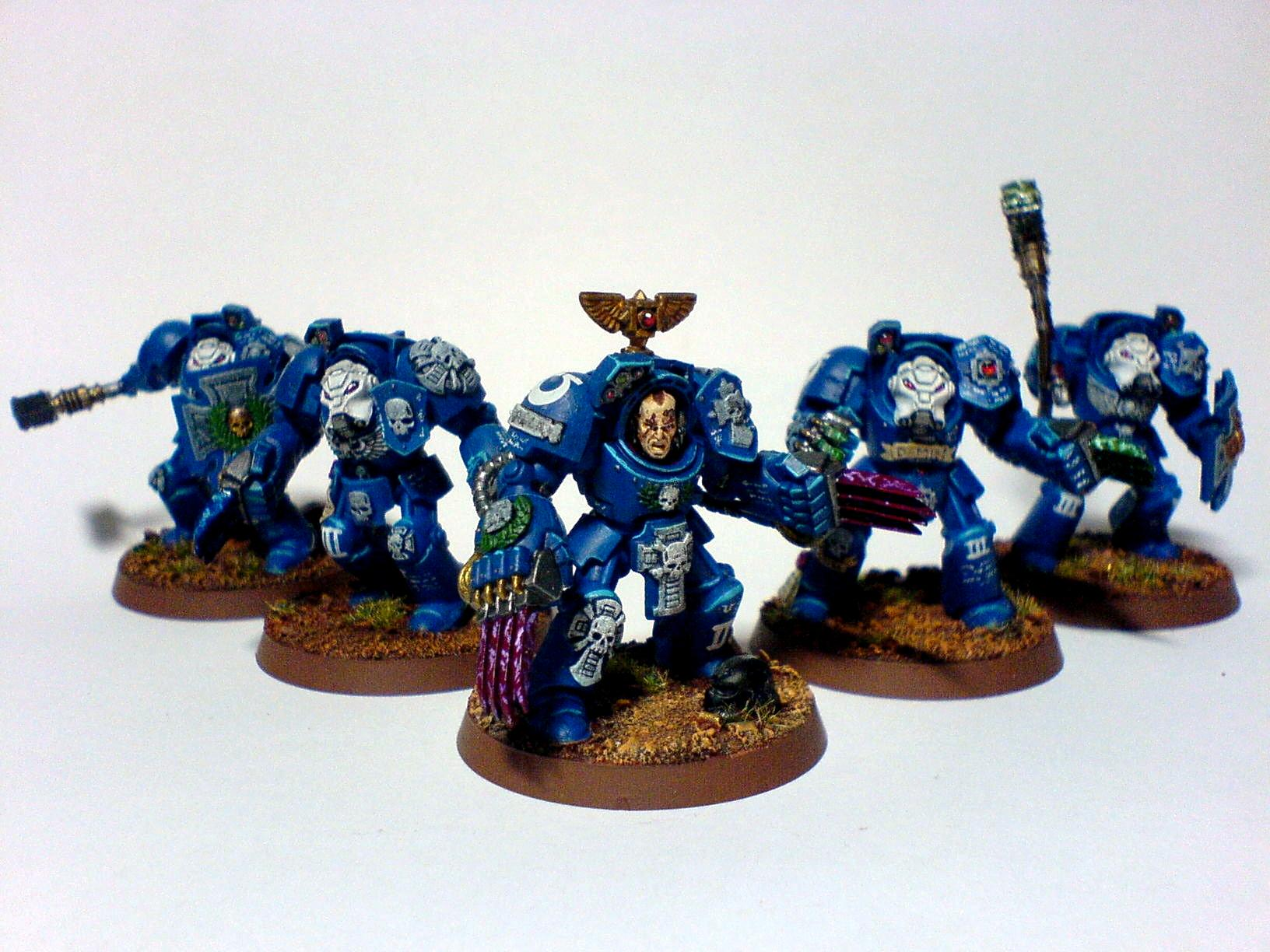 Assault Squad, Space Marines, Terminator Armor, Ultramarines, Warhammer 40,000