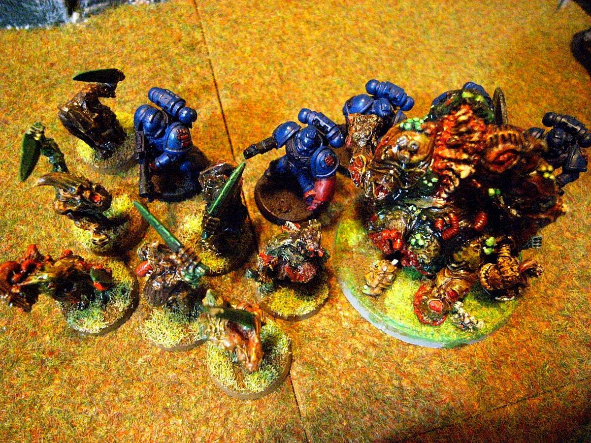 Battle Report, Chaos Space Marines, Crimson Fists, Plague Marines, Space Marines, Warhammer 40,000