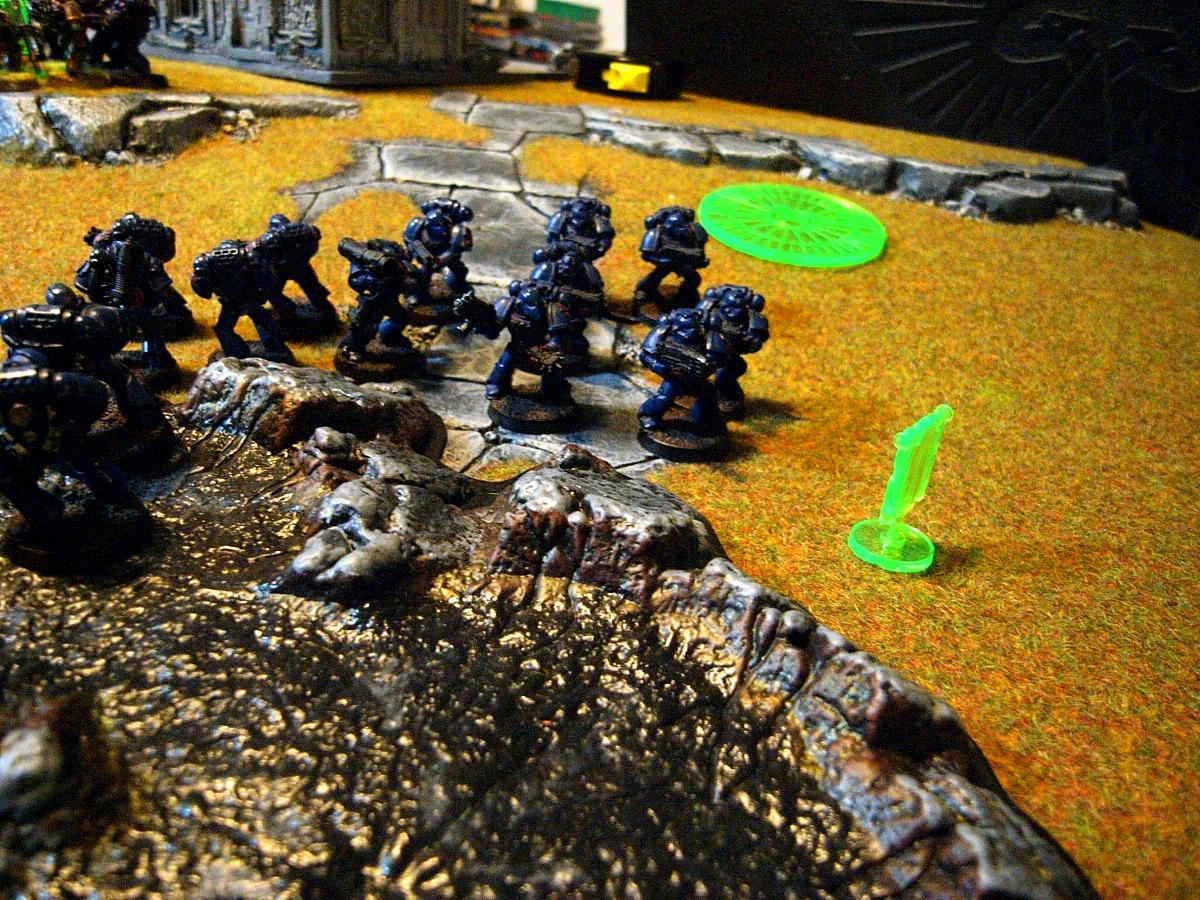 Battle Report, Chaos Space Marines, Crimson Fists, Plague Marines, Space Marines, Warhammer 40,000