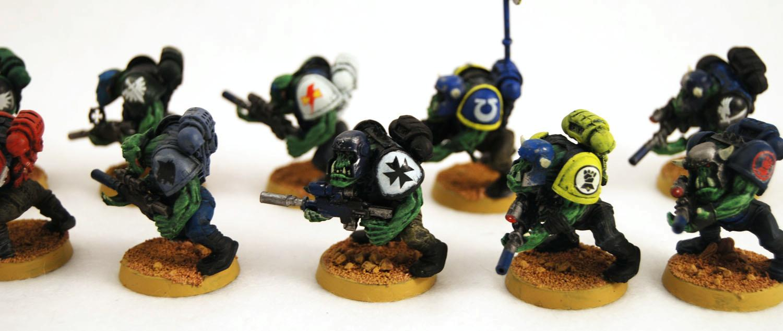 Boy, Conversion, Deathskulls, Lootaz, Looted, Orks, Space Marines, Waaagh, Warhammer 40,000