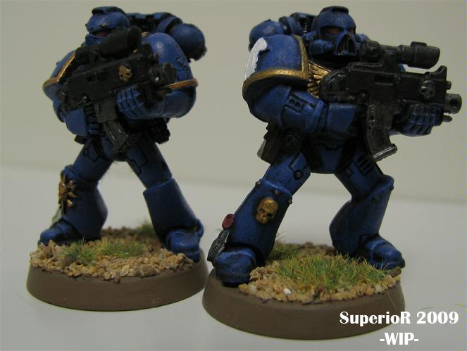 Smurf, Space Marines, Superior, Tactical, Ultramarines, Work In Progress