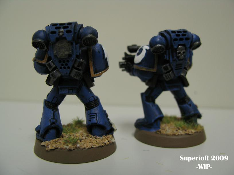 Space Marines, Superior, Tactical, Ultramarines, Work In Progress