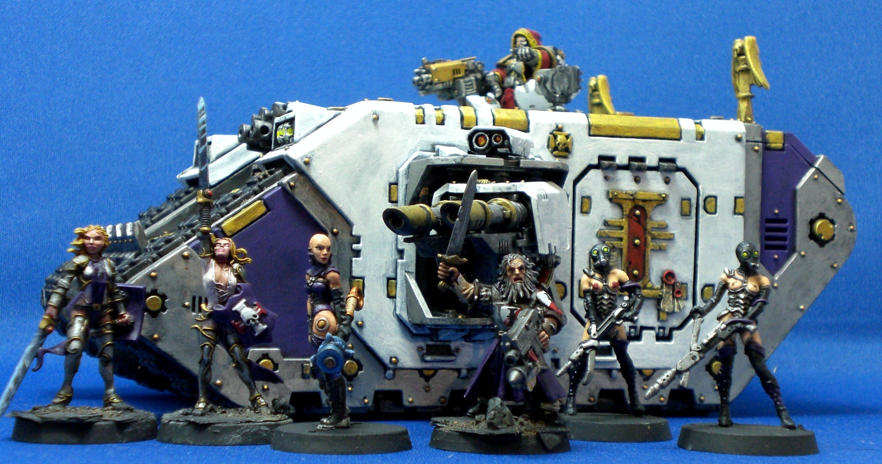 Female, Girl, Girls, Inquisition, Inquisitor, Land Raider, Retinue