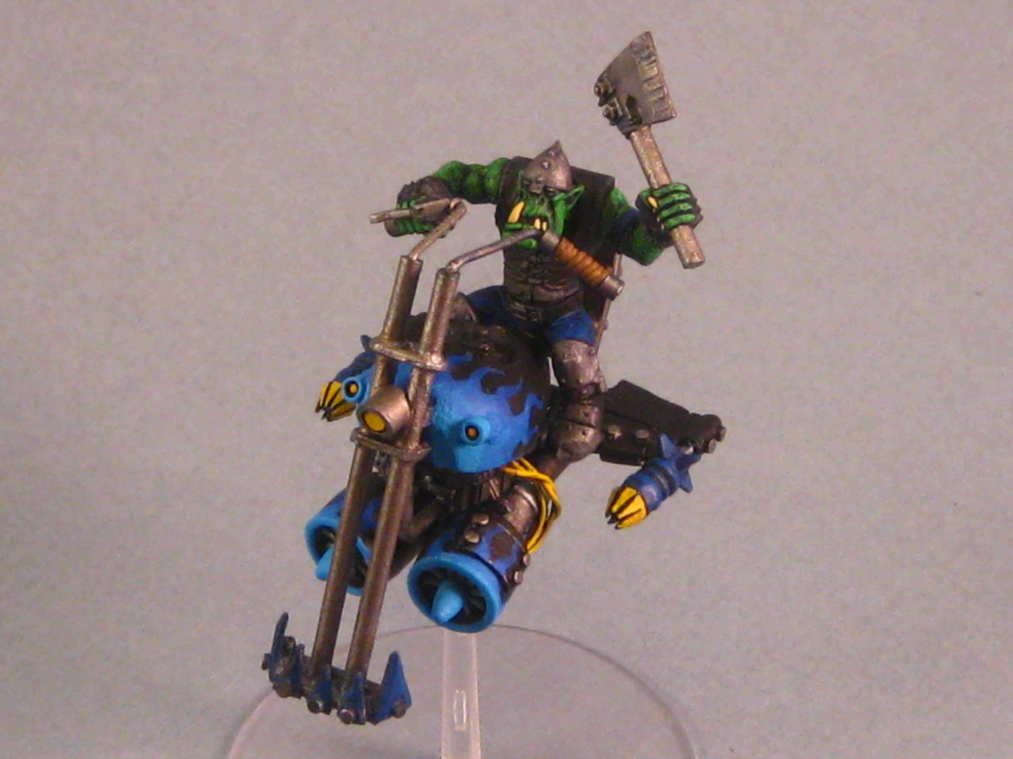 Chopper, Conversion, Deffkopta, Flames, Jetbike, Orks, Paint In Progress, Work In Progress