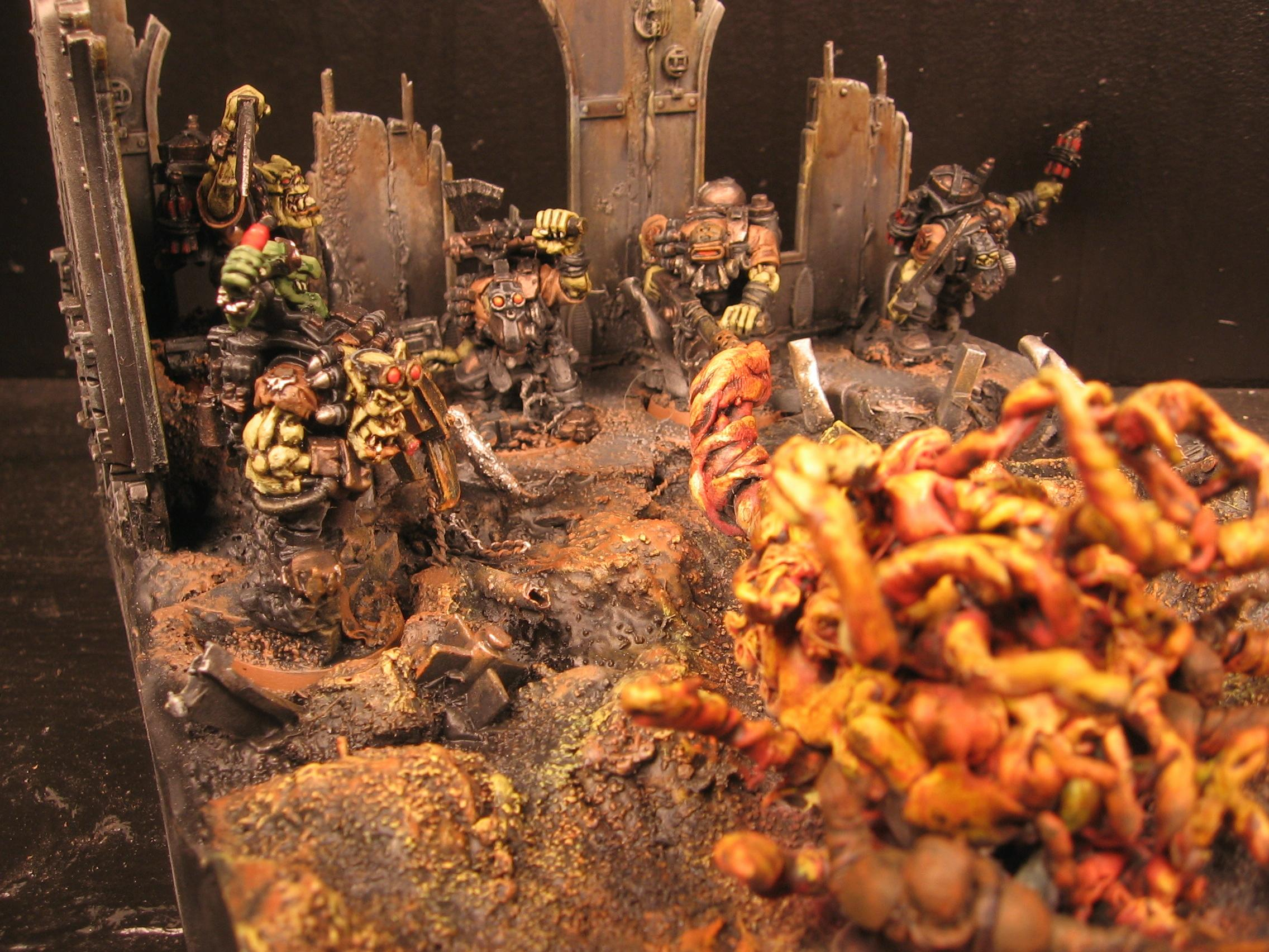 Awesome, Conversion, Diorama, Object Source Lighting, Orks, Warhammer 40,000