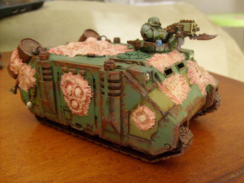 Chaos Space Marines, Green Suff, Nurgle Rhino