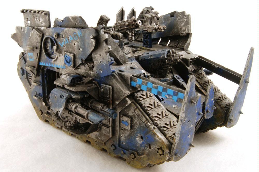 Battlewagon, Conversion, Deathskulls, Land Raider, Looted, Orks, Tank, Waaagh, Warboss, Warhammer 40,000