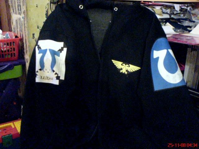Ultramarines Chaplain w Terminator Honours Hoodie Front