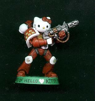Cute, Hello Kitty, Humor, Meltagun, Space Marines