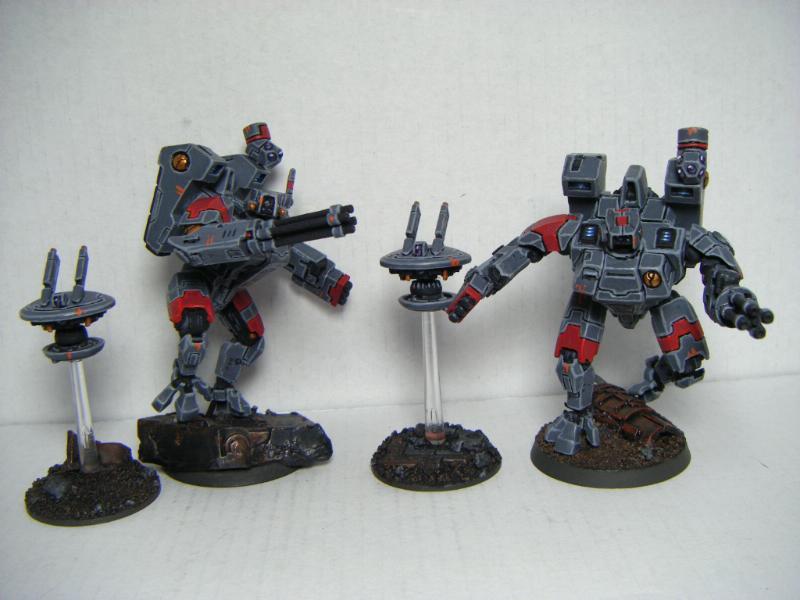 Crisis Battlesuit, Drones, Tau