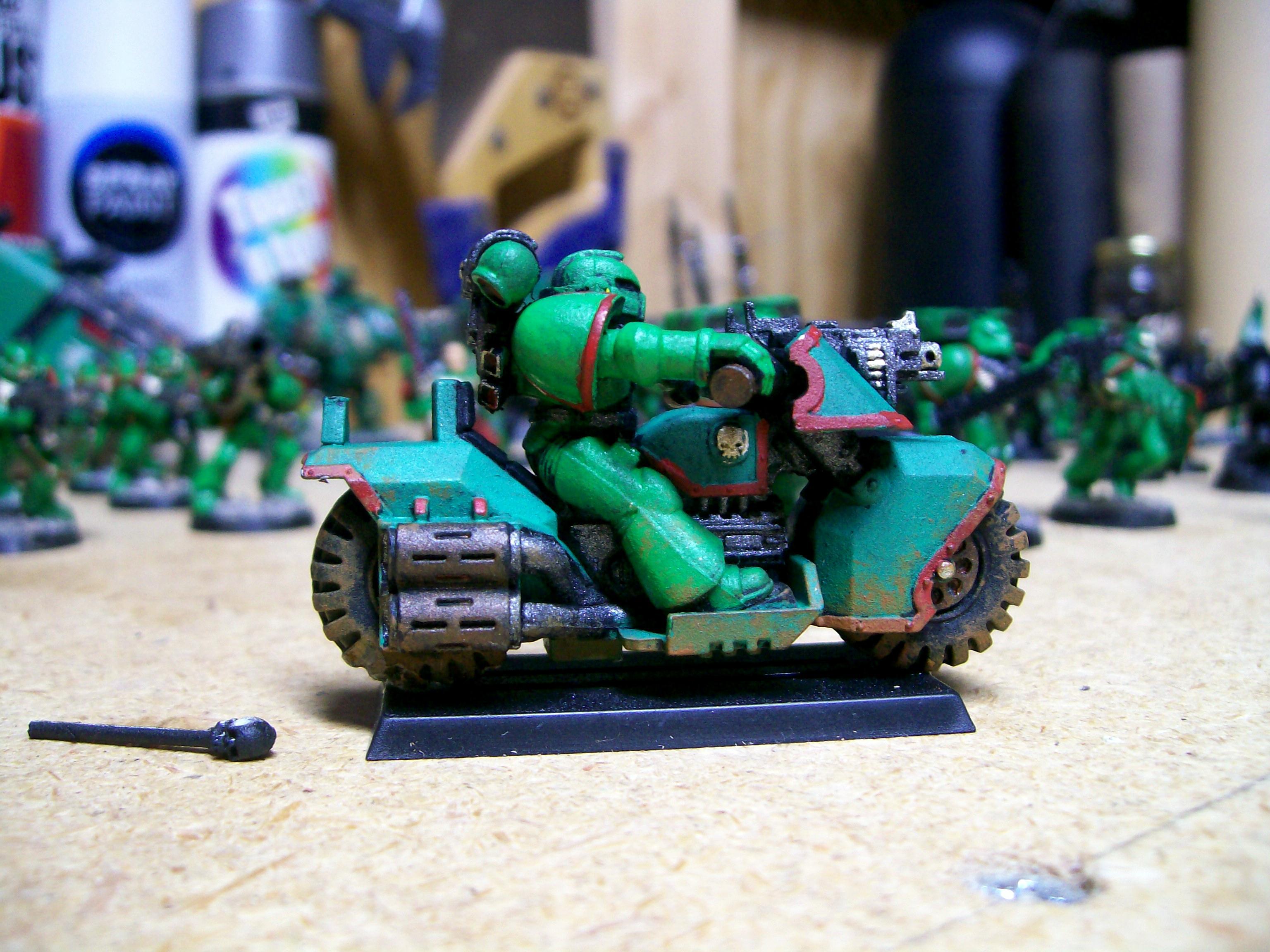Bike, Emerald Dragons, Fast Attack, Space Marines, Work In Progress