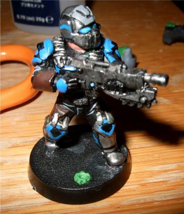 Carmine, Cog, Conversion, Gear, Gears Of War, Imperial Guard