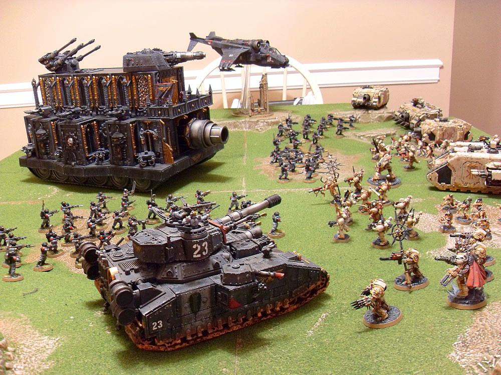 Baneblade, Battle Report, Chaos Space Marines, Imperial Guard, Leviathan, Valkyrie