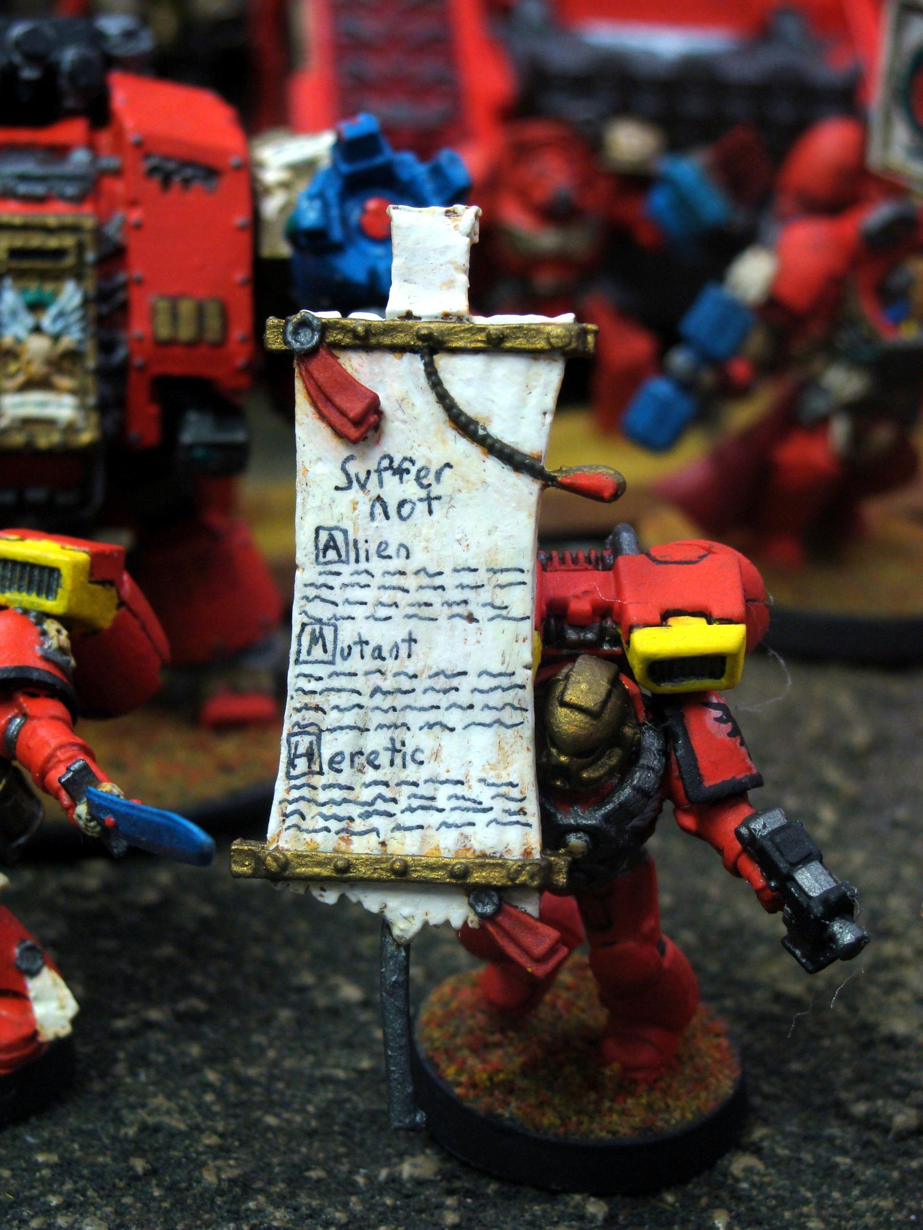 Assault Marines, Banner, Blood Angels, Kirasu, Warhammer 40,000