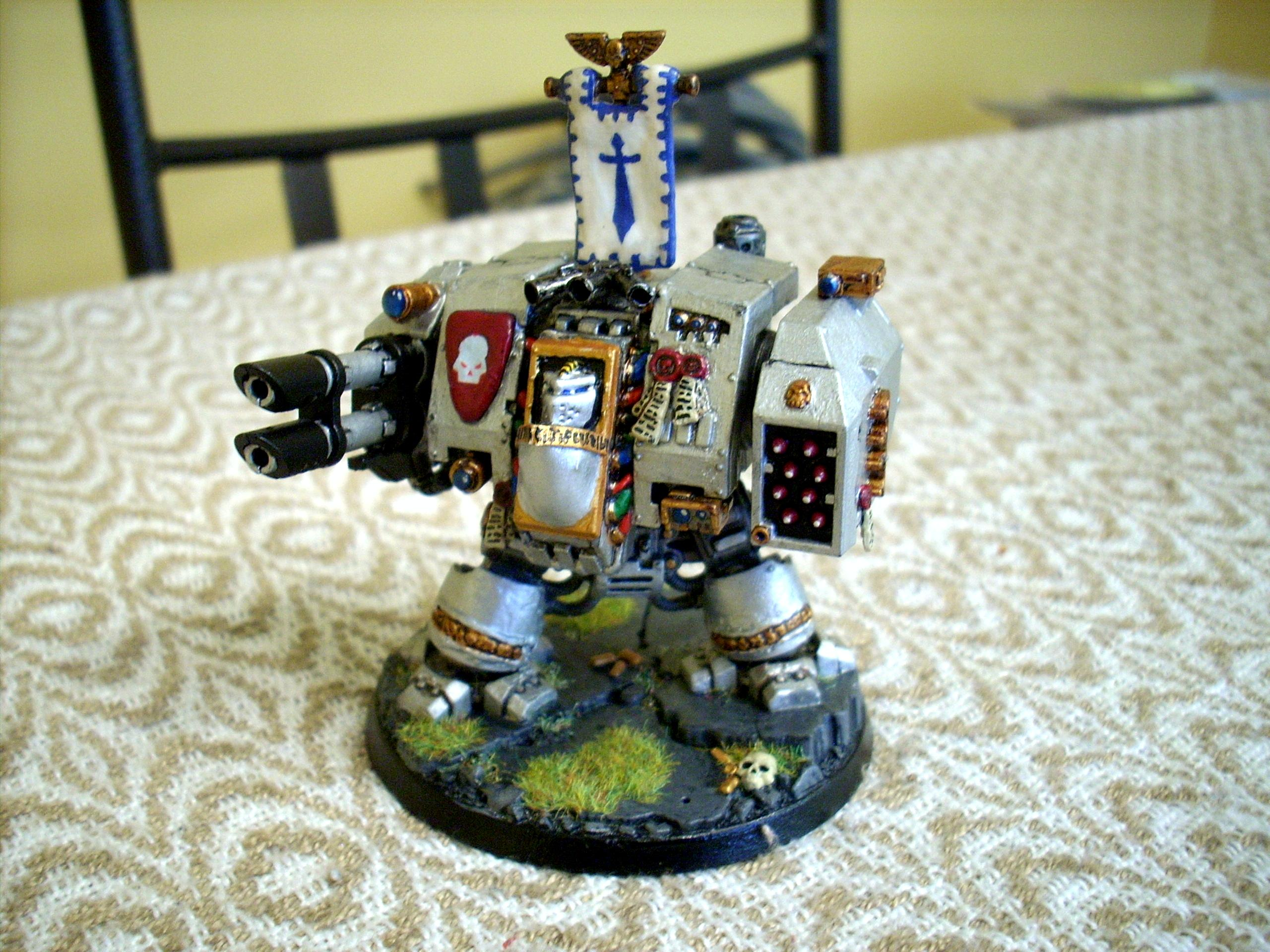 Dreadnought, Grey Knights, Silver, Space Marines, Spacer