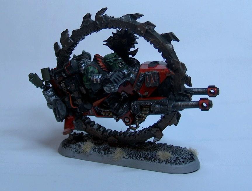 Conversion, Da Spinny Wheel Of Deff!, Monowheel, Orks, Painted, Waaagh!, Warbike