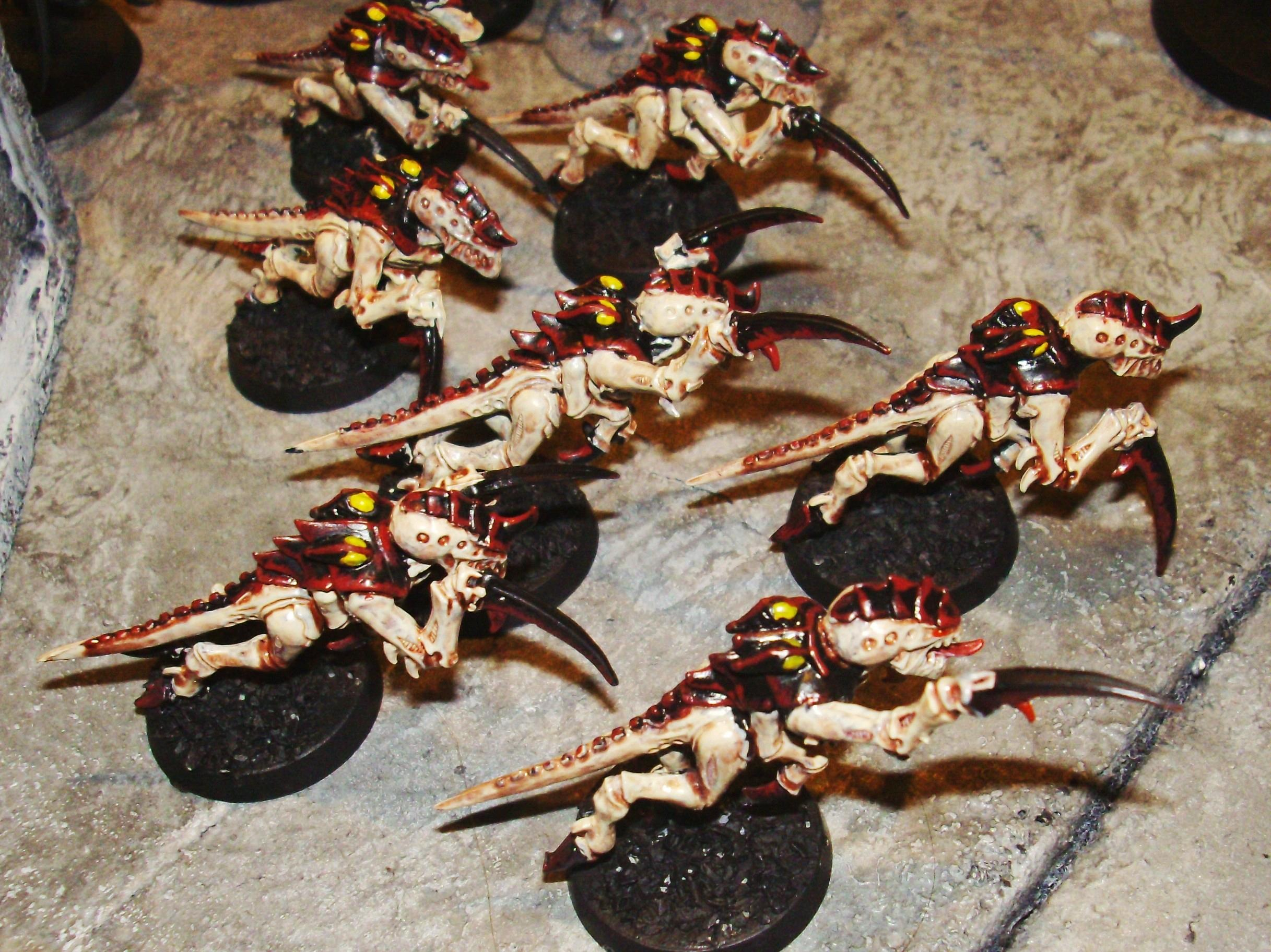 Tyranids, The only painted tyranid squad I have- Some hormagaunts