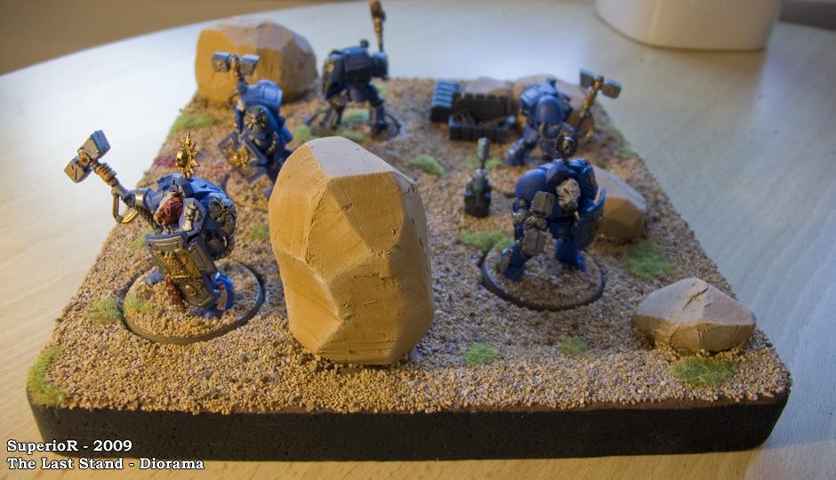 Diorama, Last Stand, Smurfs, Space Marines, Superior, Ultramarines, Warhammer 40,000