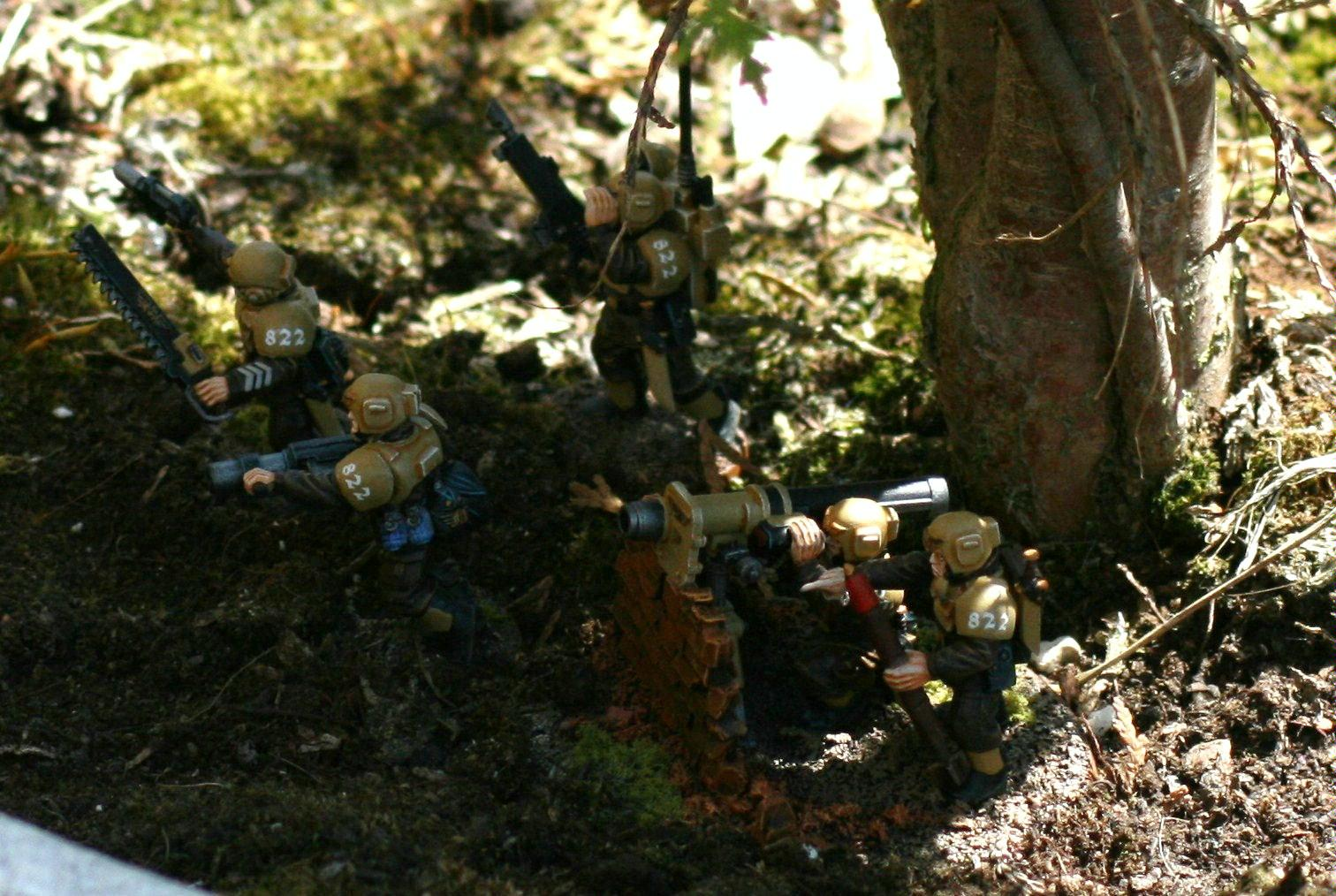 Imperial Guard, Infantry, Outdoors, Scenic Basing