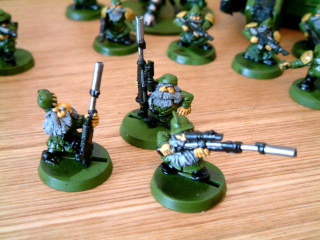 Brown, Classic, Conversion, Dwarves, Green, Guard, Imperial, Imperial Guard, Old, Out Of Production, Rogue, Snipers, Squats, Trader, Warhammer 40,000