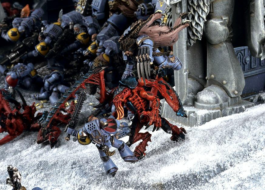 Diorama, Lictor, Space Wolves, Tyranids, Warhammer 40,000