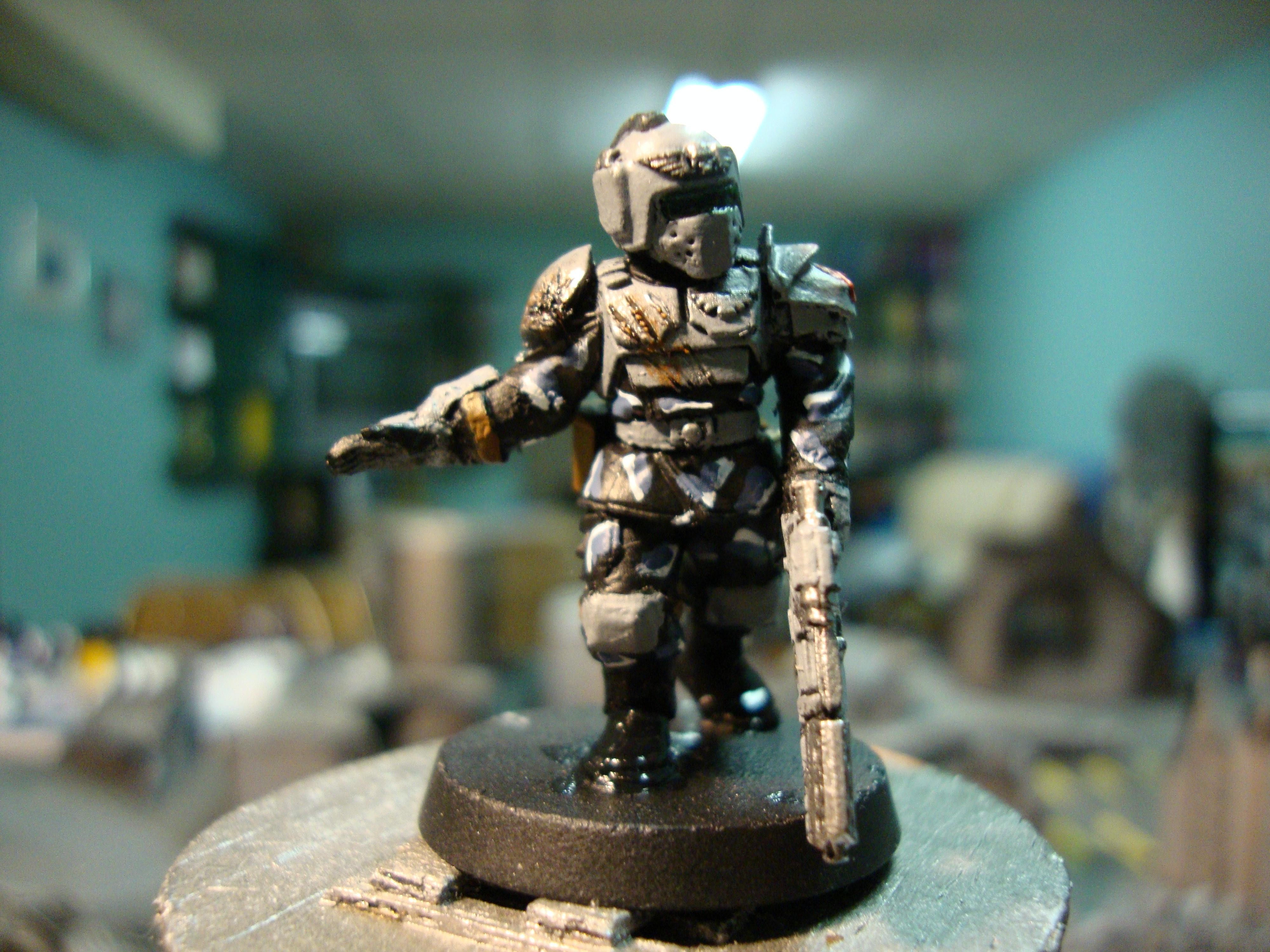 Cadians, Camouflage, Guardsmen, Imperial Guard, Sergeant, Weathered