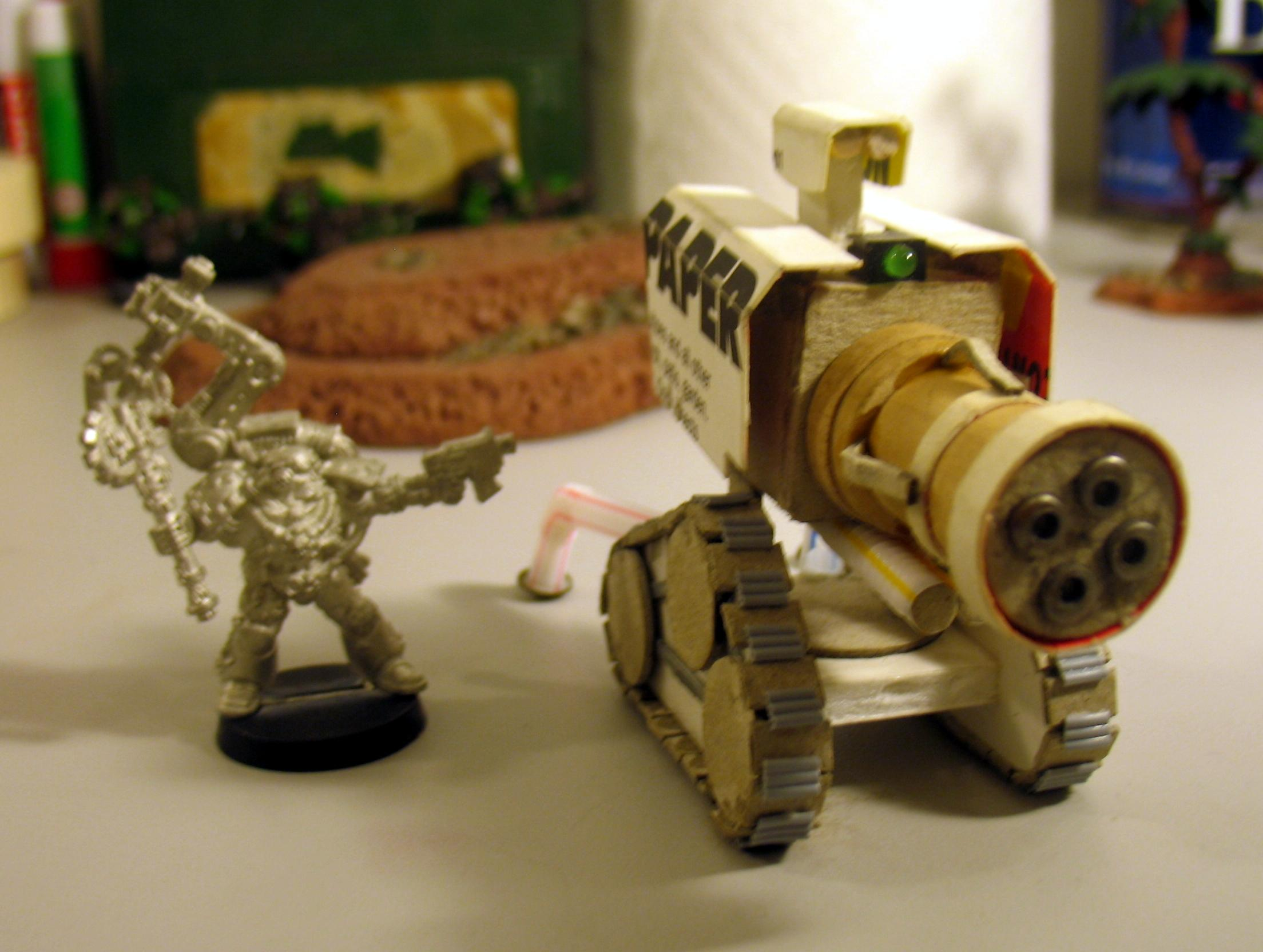 Cannon, Scratch Build, Space Marines, Thunderfire