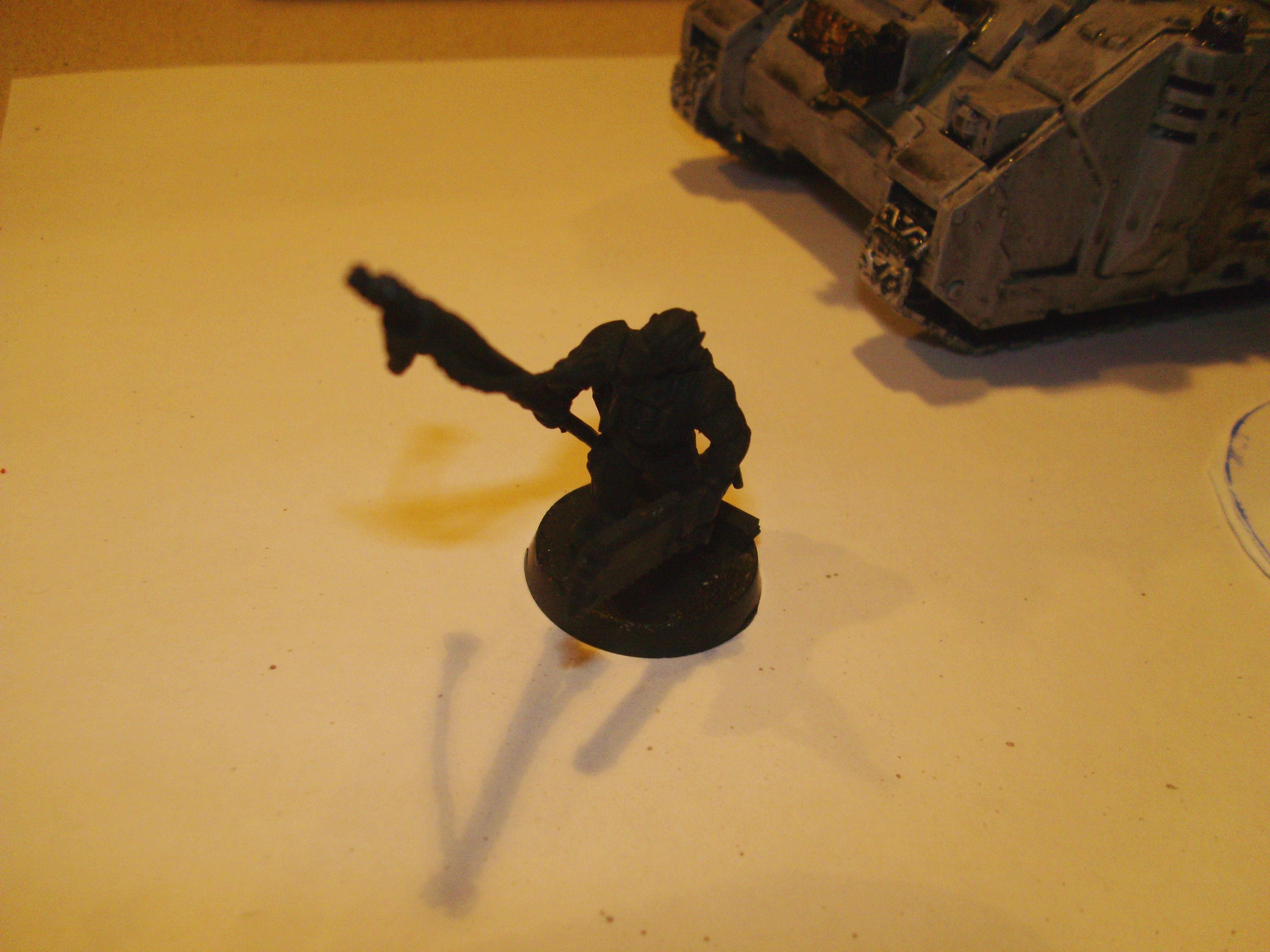 Imperial Priest kitbash, minus paint