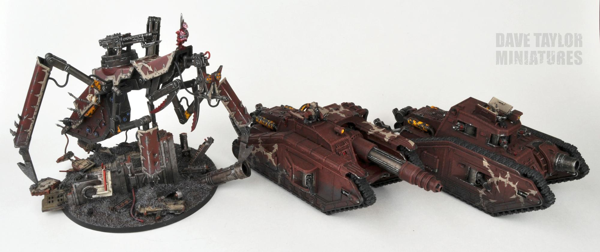 Blood Pact, Lost And The Damned, Malcador, Stalk Tank, Traitor Guard