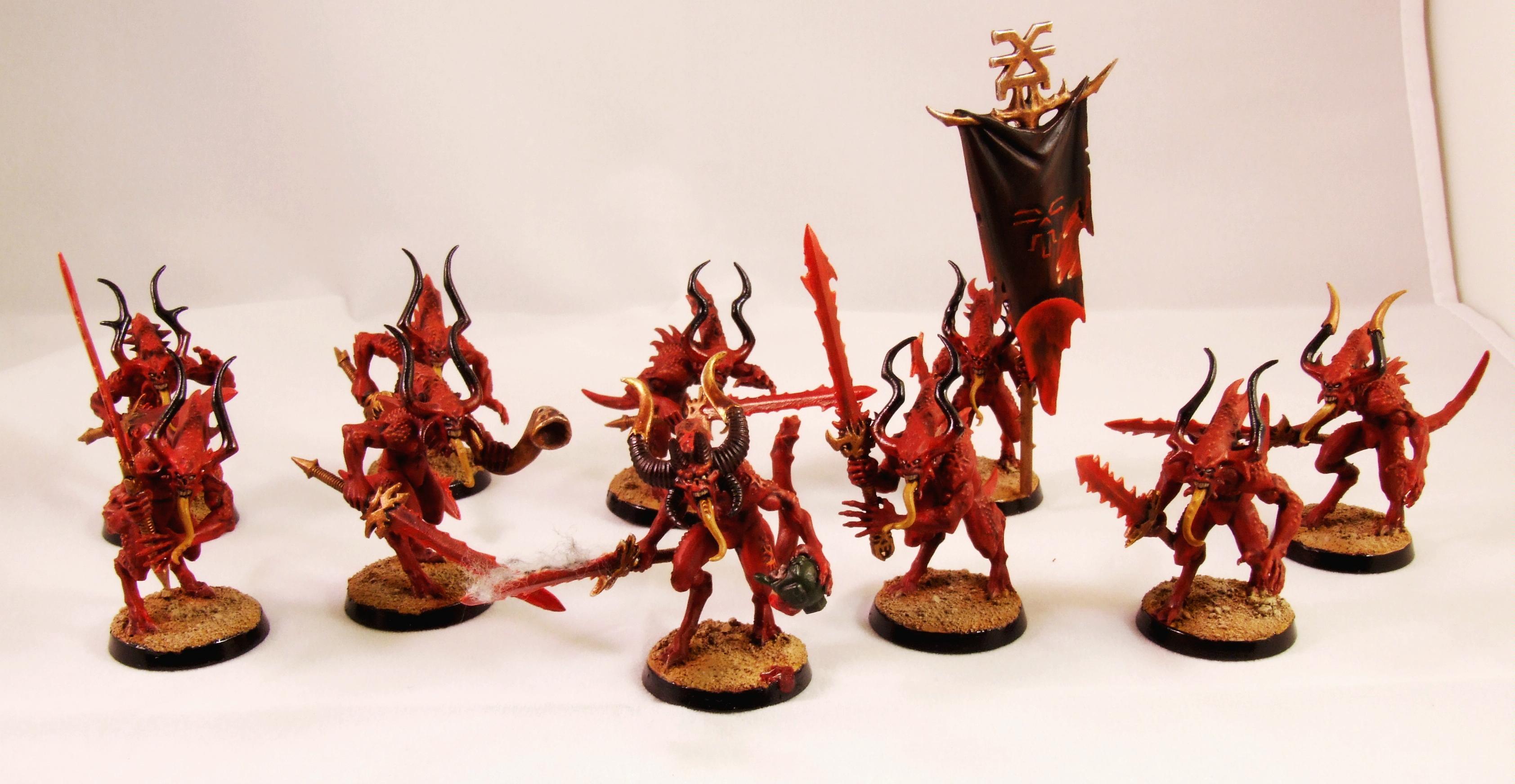 Bloodletters, Daemons, Khorne, Warhammer 40,000
