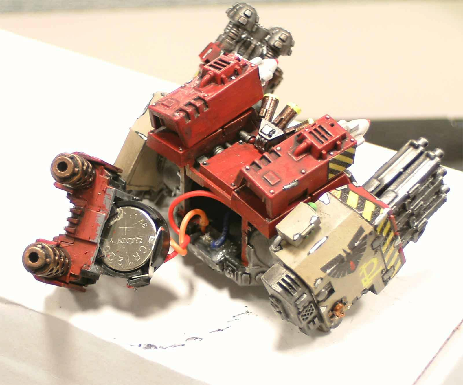 Blood Ravens, Conversion, Dreadnought, Ironclad, LED, Lighted, Warhammer 40,000