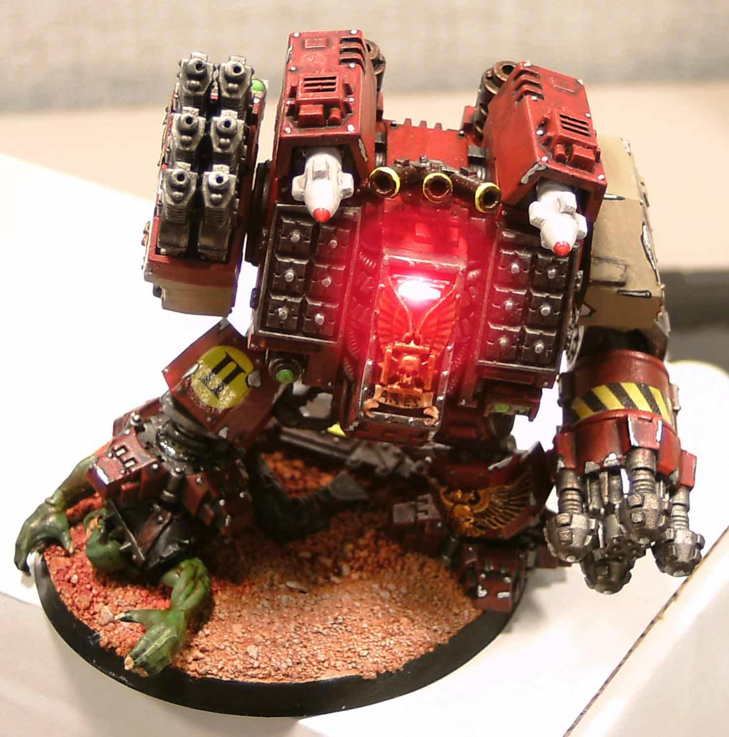 Dreadnought, LED, Over-awesome, Space Marines, Warhammer 40,000