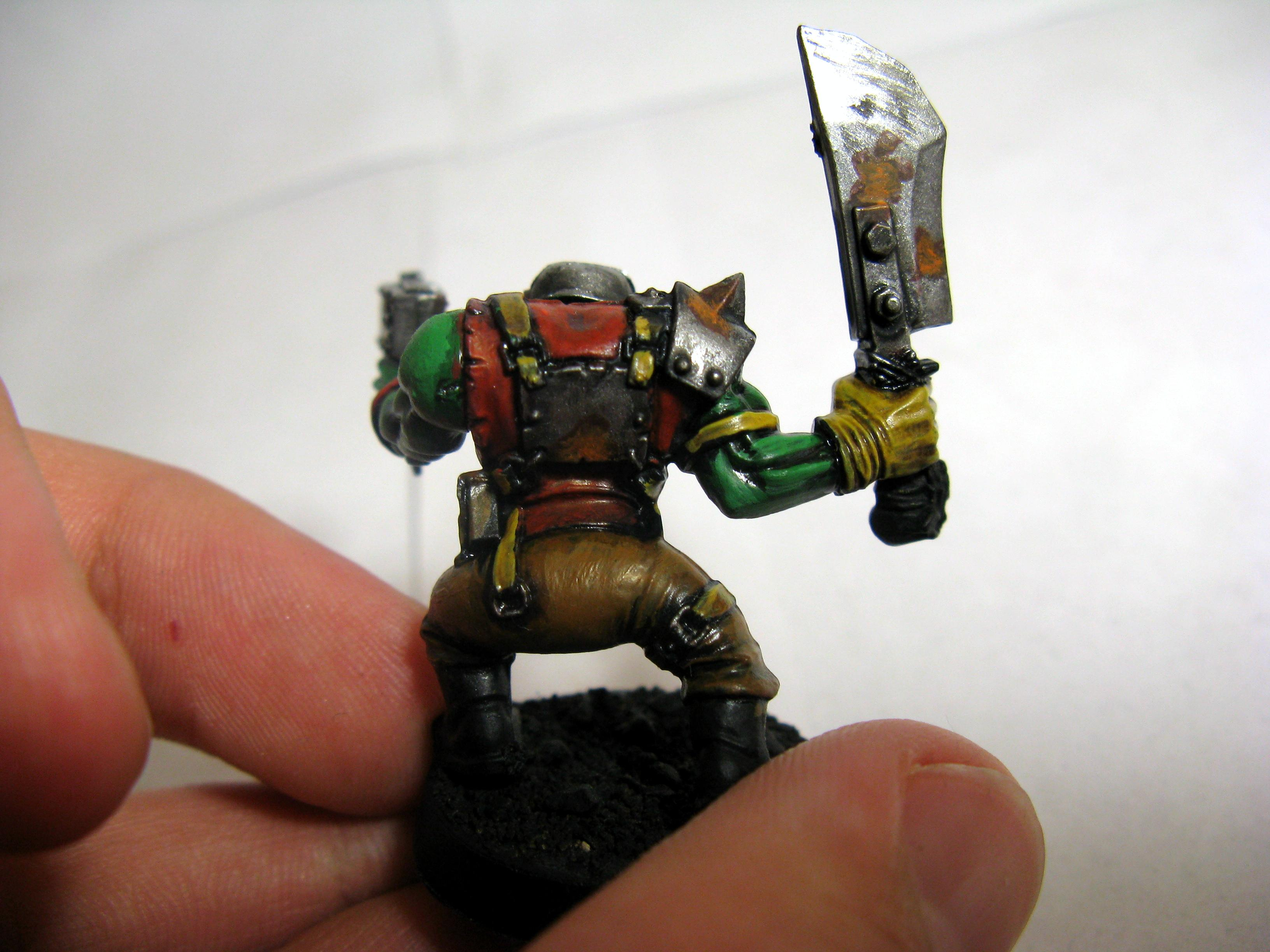 Boy, Orks, Speed painting test1.0