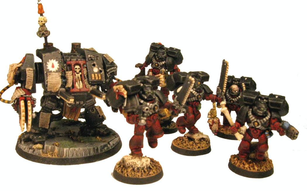 Assault Marines, Dreadnought, Flesh Tearers, Space Marines